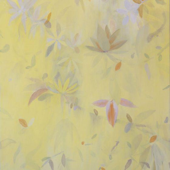 Bomen bloesem 2, 120 x 100 cm, acryl op linnen, 2020