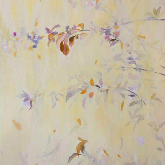 Bomenbloesem 1, 120 x 100 cm, acryl op linnen, 2020