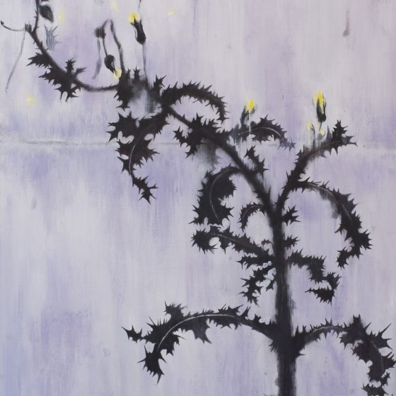 Distel, 80 x 120 cm, acryl op linnen, 2020