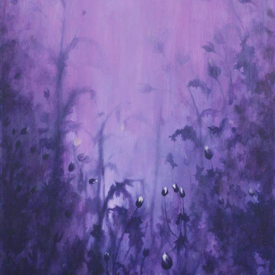 Purple Haze, 80 x 120 cm, acryl op linnen 2020