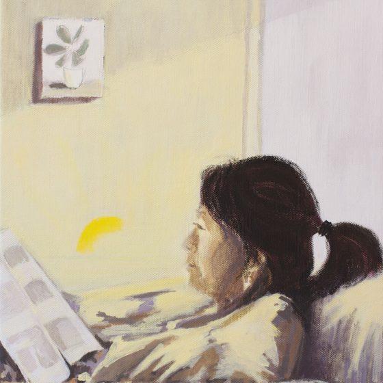 Reading, 40 x 50 cm, acryl op linnen, 2020