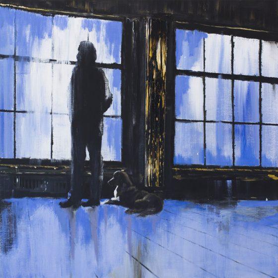 Window, 100 x 100 cm, acryl op linnen, 2020