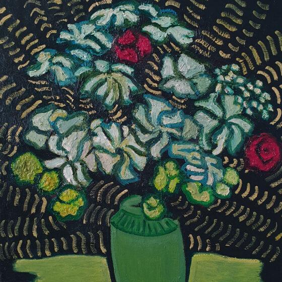Zonder titel (flower 2), Olieverf op doek, 50 cm x 40 cm, 2020