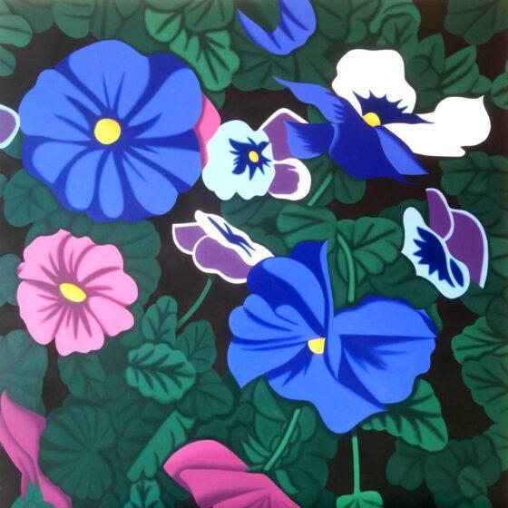bloemen, 100 x 100, oil, 2020