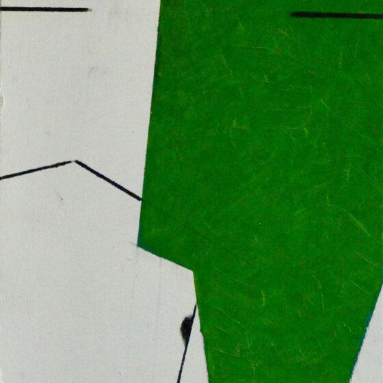 L.B.E.D., olieverf op paneel 24 x 18 cm.