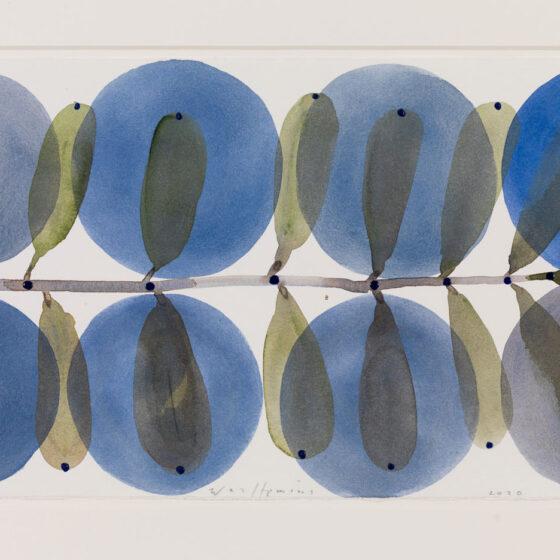 Werk op papier, 50 x 65 cm, papiermaat 21 x 42 cm., 2020