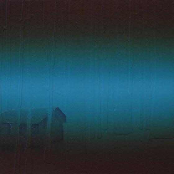 landschap, acryl op mdf, 30 x 45 cm, 2020