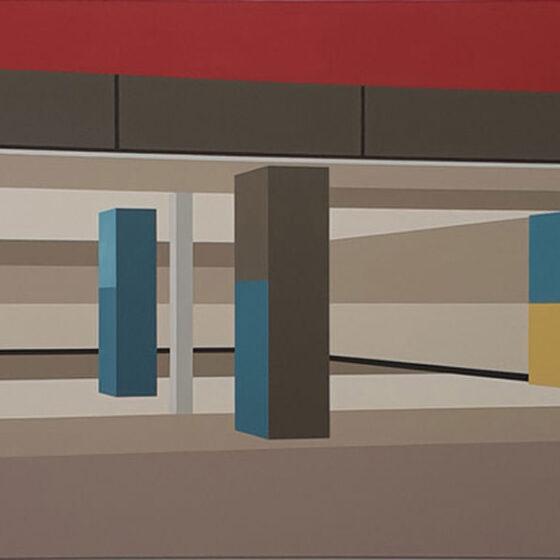 Den Haag CS, 80 x 220 cm, acryl op linnen, 2020