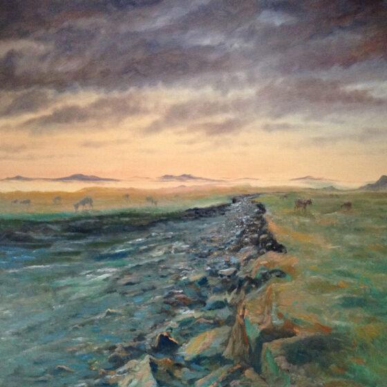 Highlands, 2020, 140 x 160 cm., olieverf op linnen