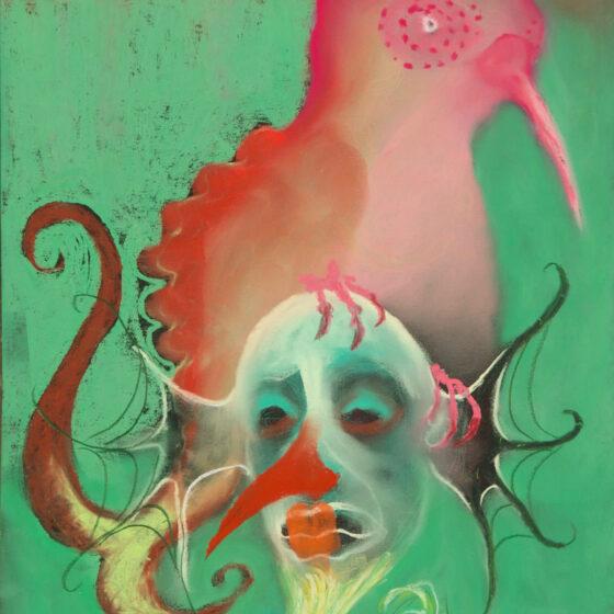 fabulous creatures 10, pastel op papier, 34 x27 cm.