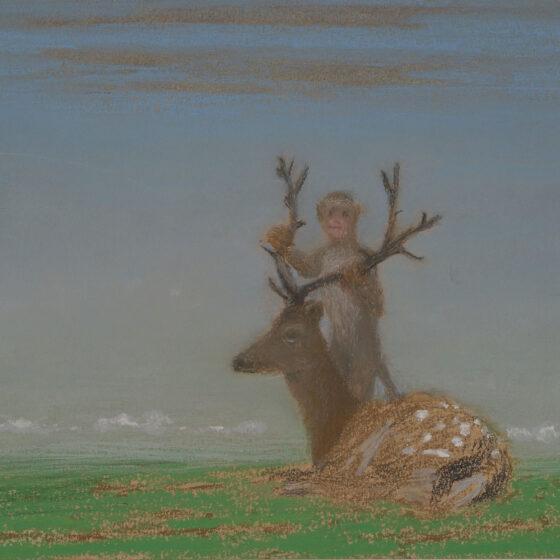 fabulous creatures 11, pastel op papier, 34 x27 cm.