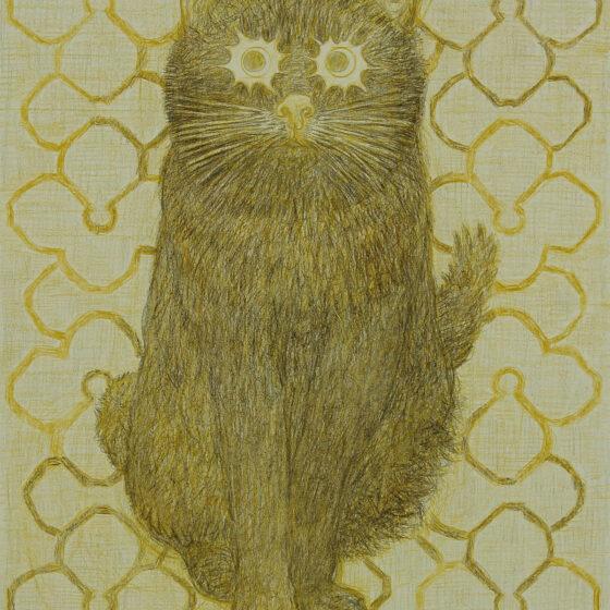 fabulous creatures 4, polychromos potlood op papier, 34 x 27 cm.