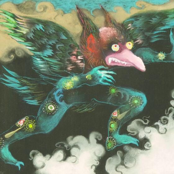 fabulous creatures 7, pastel op papier, 34 x27 cm.