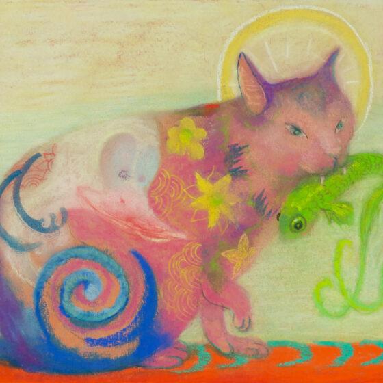 fabulous creatures 9, pastel op papier, 34 x27 cm.