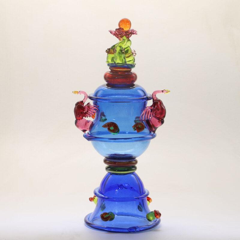Samovaar, glas, 55 cm. Hoog, 2021