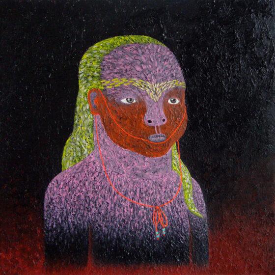 parnel, acryl op canvasboard, 50 x 50 cm, 2017