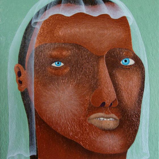 tabita, acryl en structuurpasta op canvas, 180 x 140 cm, 2018