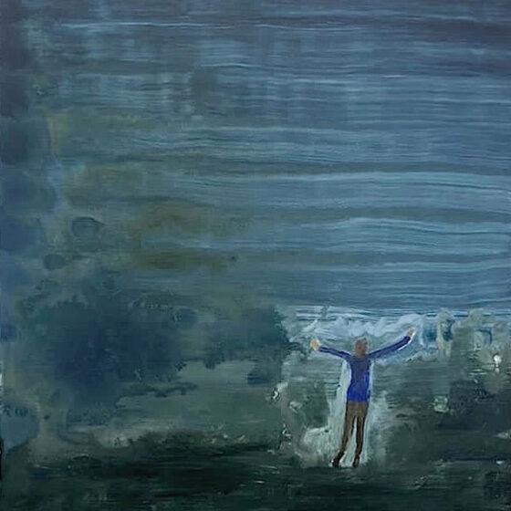 wind 2021, 50 x 40 cm, Acrylverf op doek