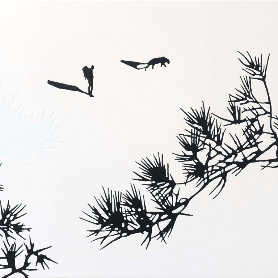 Landschap, acryl op mdf, 50 x 60 cm