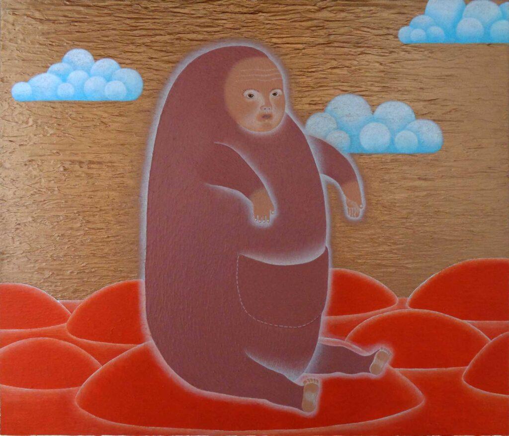 Ern, 2021, acryl op canvas, 60 x 70 cm