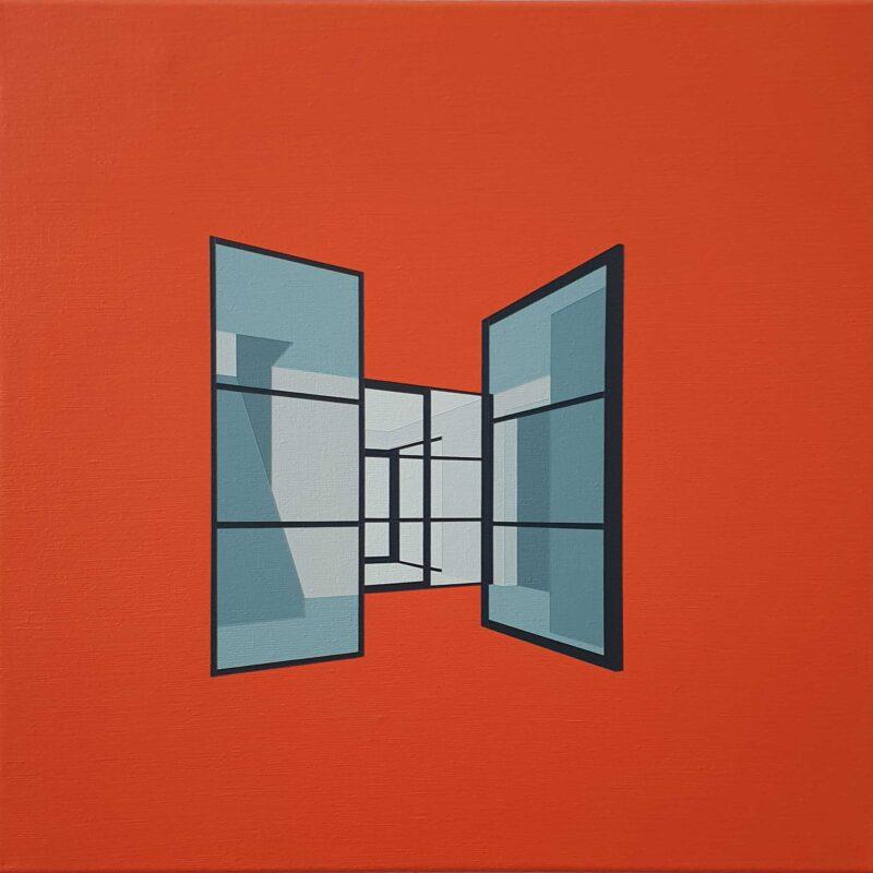 Hal (II), 50 x 50 cm, acryl op linnen